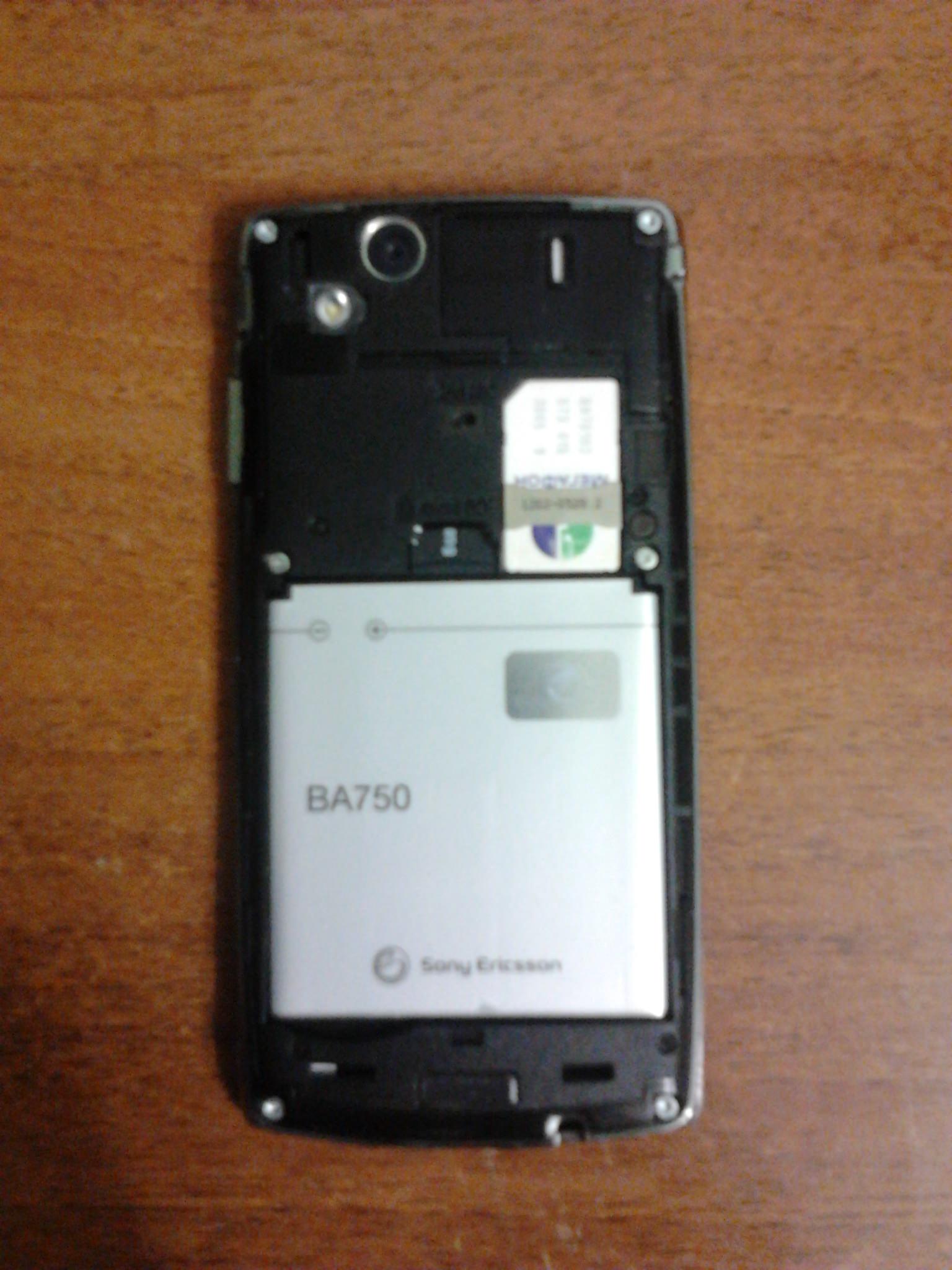 Sony Ericsson Xperia Arc S аккумулятор