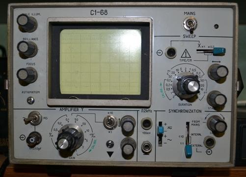 осциллограф С1-68, передняя панель