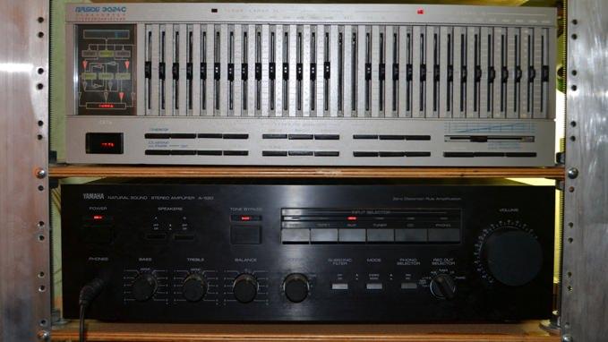 Прибой э024с и Yamaha A-520